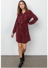 Rails Hana Silk Dress - Red Python