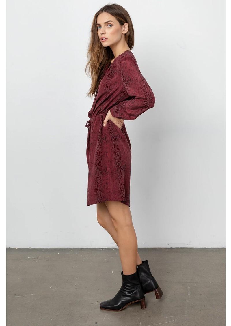 Rails Hana Silk Dress - Red Python main image