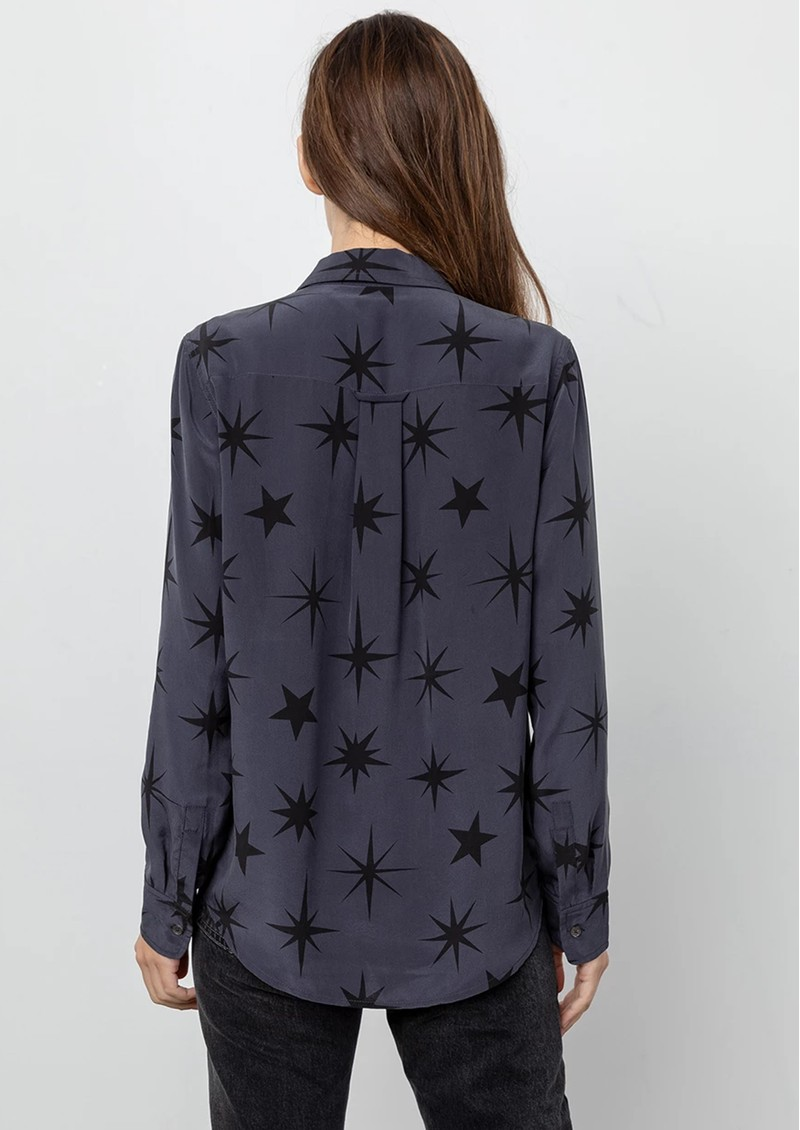 Rails Kate Silk Shirt - Charcoal Constellations main image