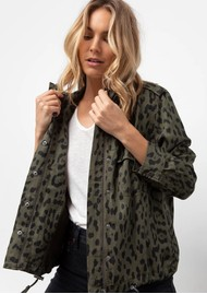 Rails Collins Jacket - Green Leopard