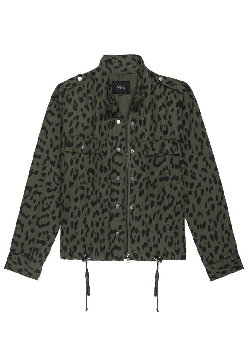 Rails Collins Jacket - Green Leopard main image