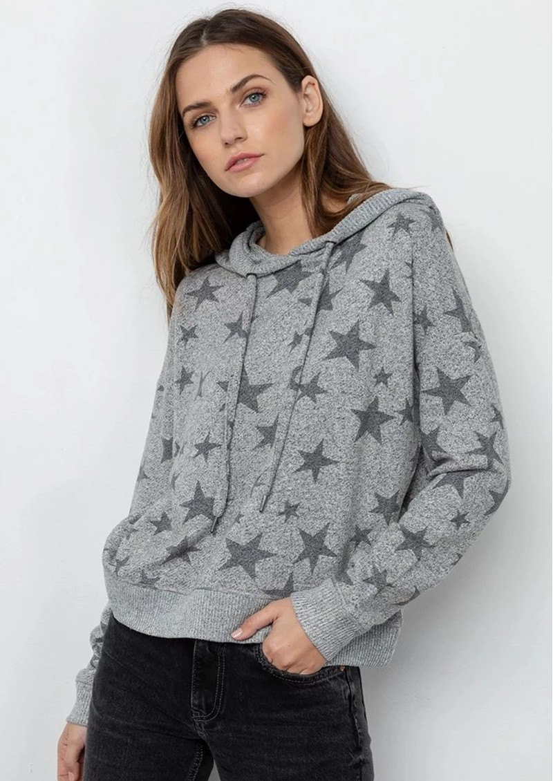 Rails Murray Hoodie - Grey Stars main image