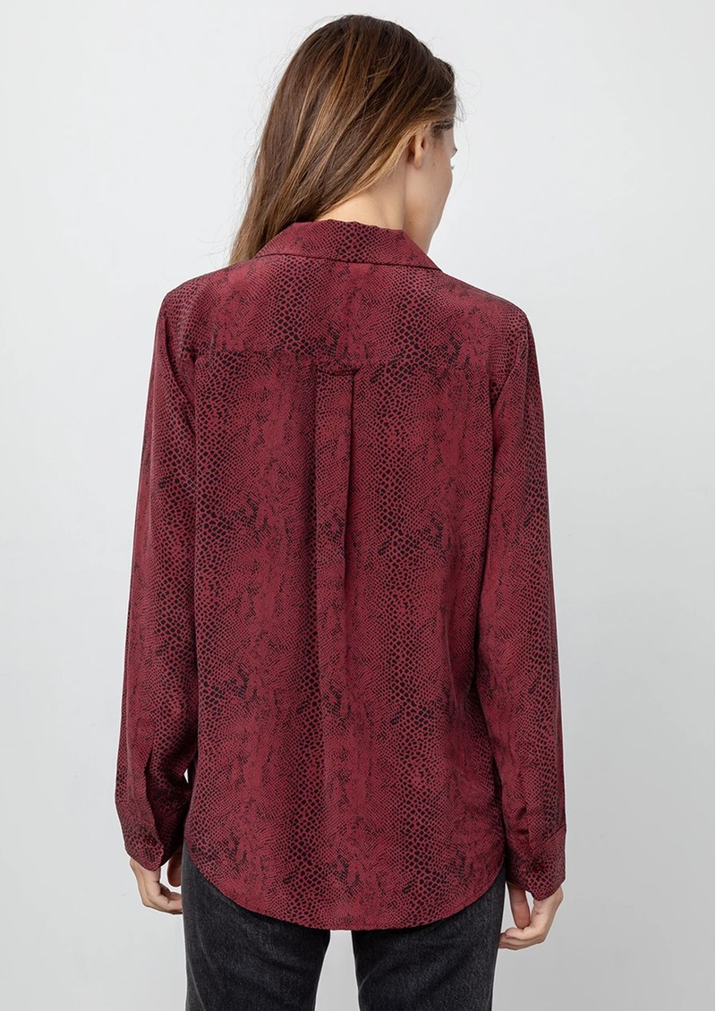 Rails Rebel Python Pyjama Shirt - Red Python main image