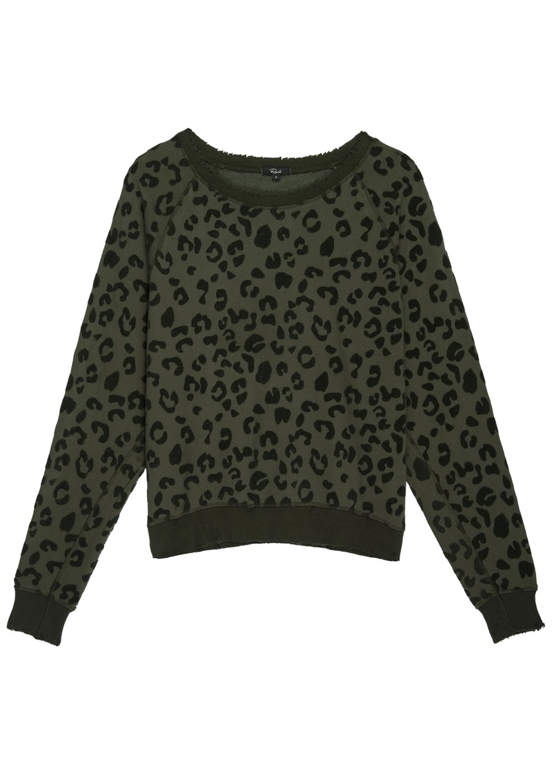 Rails Theo Sweater - Olive Leopard main image