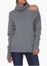 Paige Denim Raundi Turtleneck Jumper - Heather Grey
