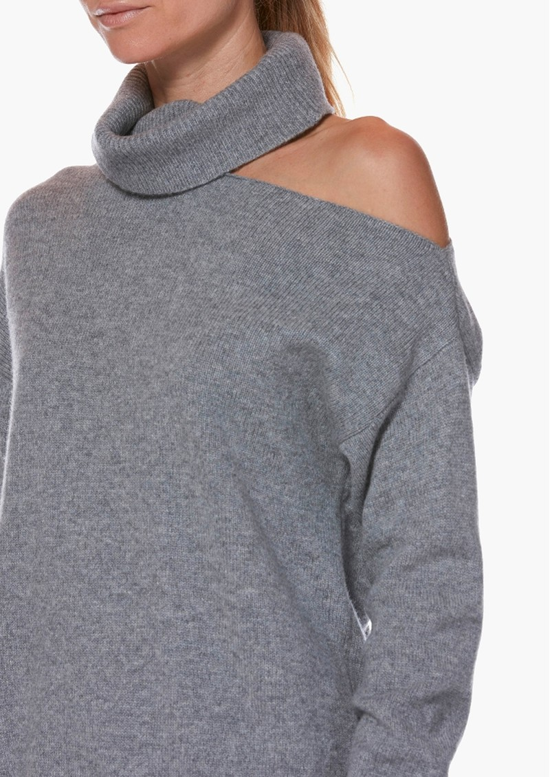Paige Denim Raundi Turtleneck Jumper - Heather Grey main image