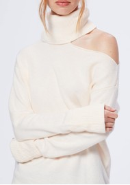 Paige Denim Raundi Turtleneck Jumper - Ivory
