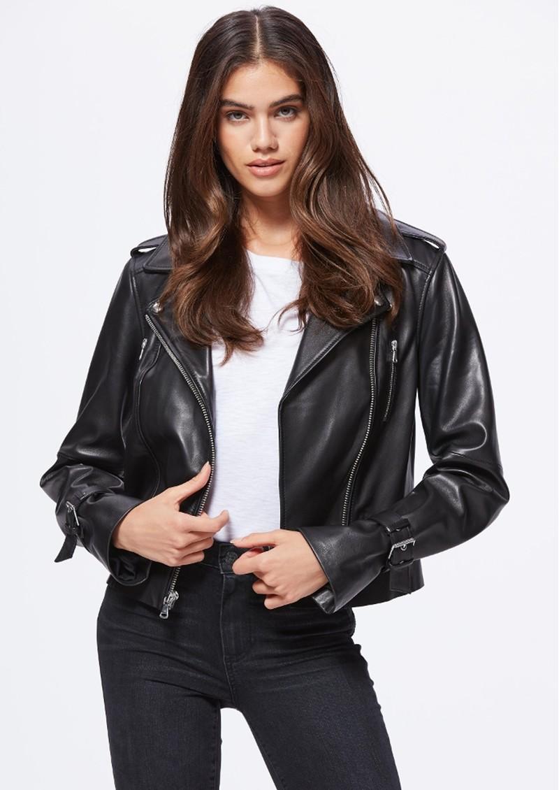 Paige Denim Rayven Leather Jacket - Black main image