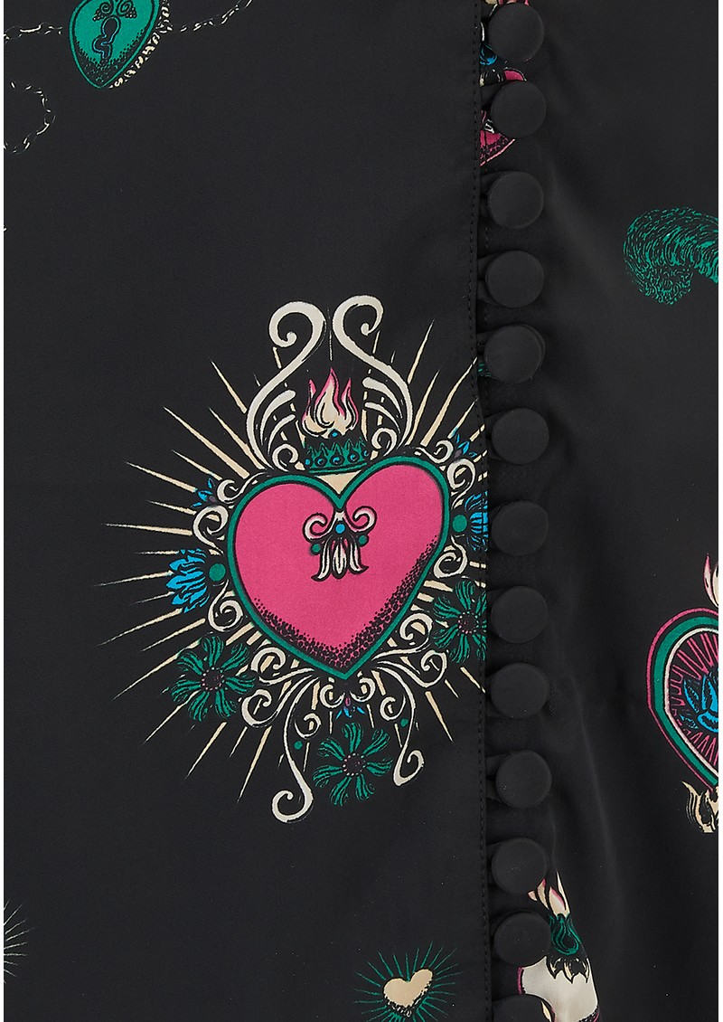 Exclusive Diva Heart Dress - Black Multi main image