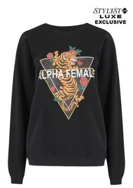 ON THE RISE Exclusive Alpha Female Tiger Sweater - Black