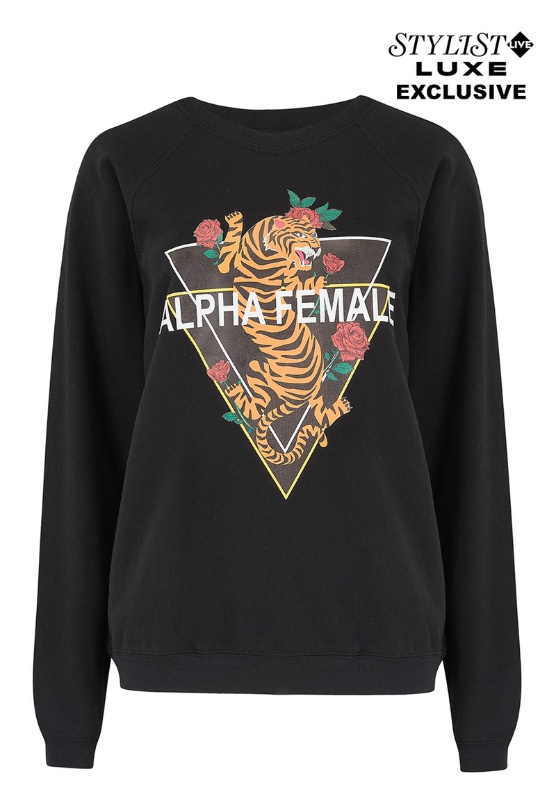 ON THE RISE Exclusive Alpha Female Tiger Sweater - Black main image