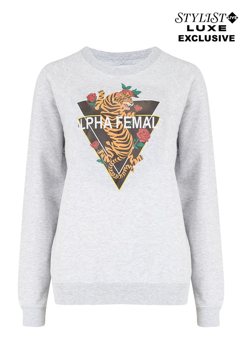 ON THE RISE Exclusive Alpha Female Tiger Sweater - Grey main image