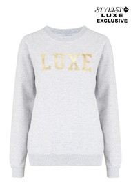 ON THE RISE Exclusive Luxe Sweater - Grey & Gold