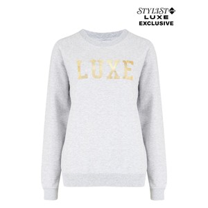 Exclusive Luxe Sweater - Grey & Gold