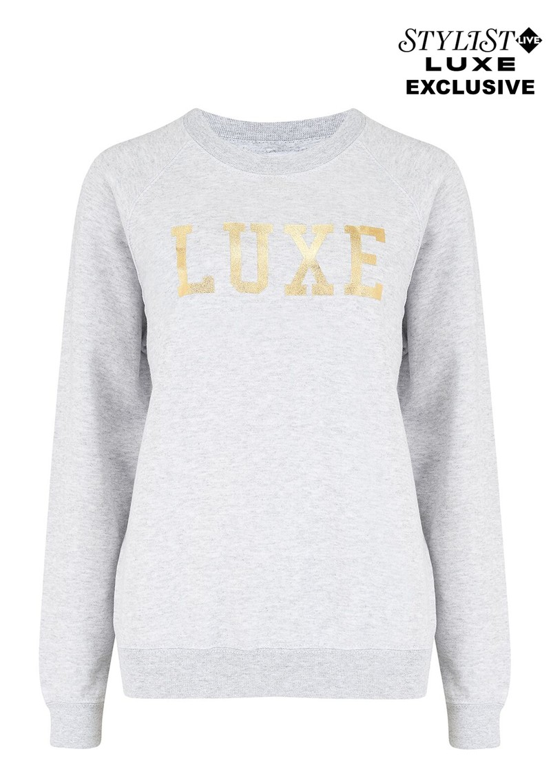 ON THE RISE Exclusive Luxe Sweater - Grey & Gold main image