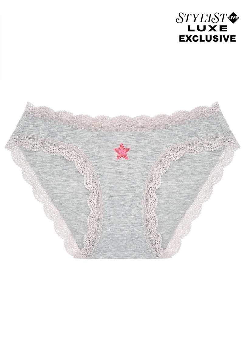 STRIPE & STARE Exclusive Single Star Brief - Grey  main image