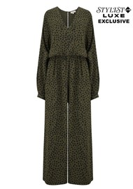 NOOKI Exclusive Bobbi Jumpsuit - Khaki Spot