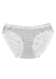 STRIPE & STARE Single Stripe Brief Bauble - Black & White