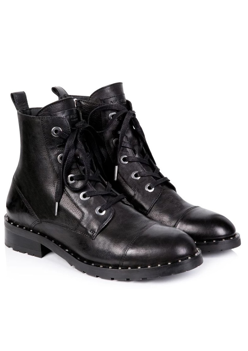 AIR & GRACE Jessa Lace Up Leather Boot - Black main image