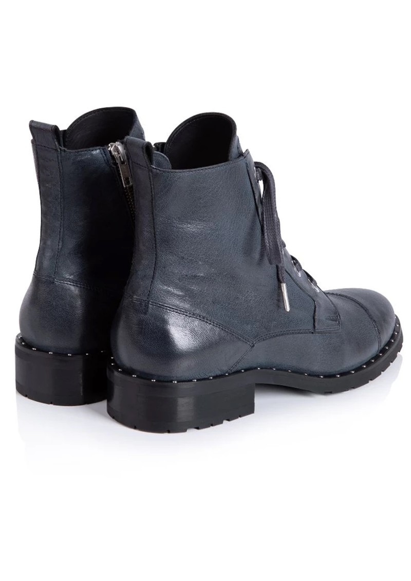 AIR & GRACE Jessa Lace Up Leather Boot - Navy main image