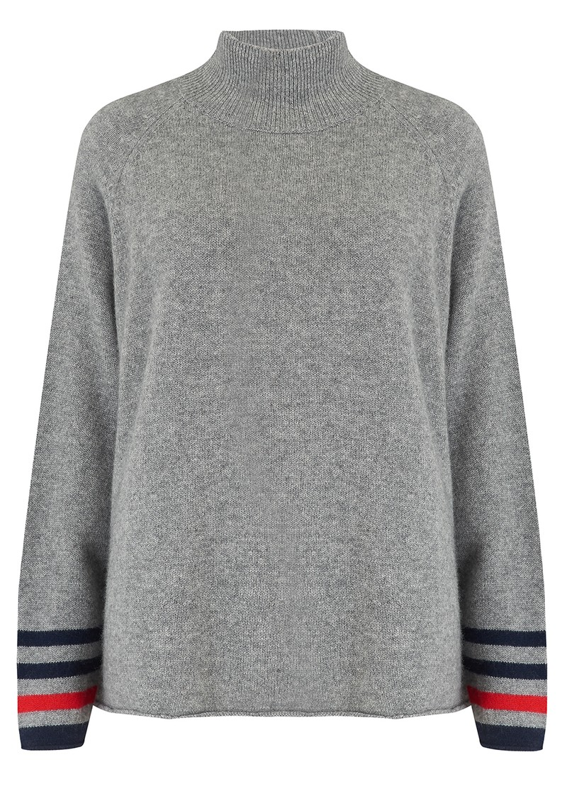 JUMPER 1234 Secret Stripe Winter Jumper - Grey, Red & Navy main image