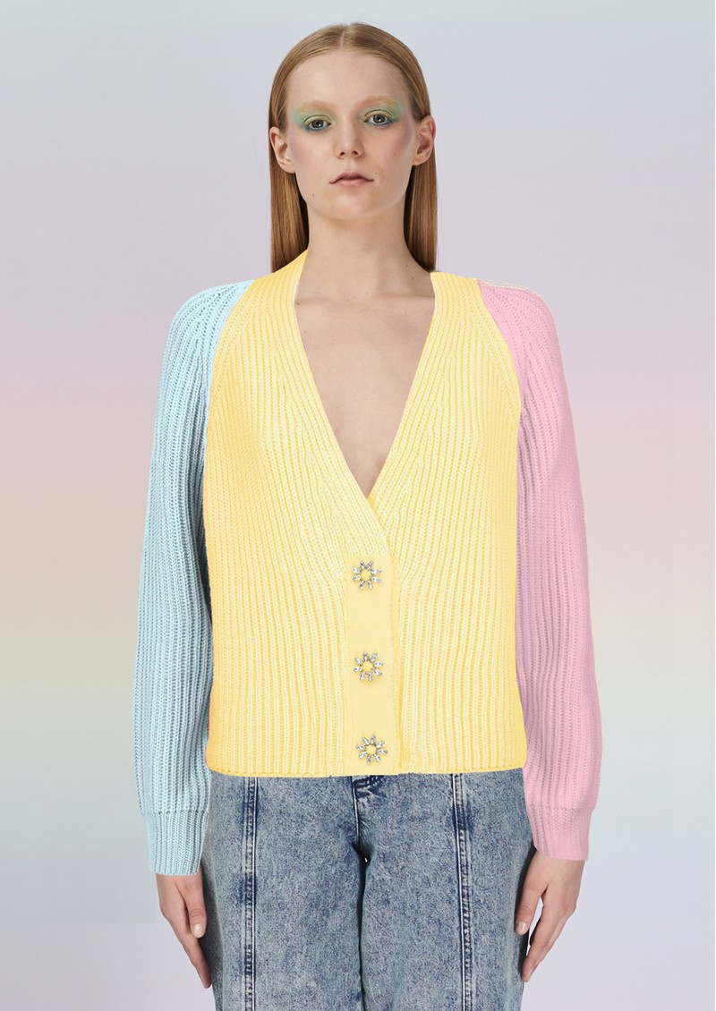 OLIVIA RUBIN Tally Cardigan - Yellow main image