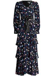 OLIVIA RUBIN Eveline Silk Dress - Retro Floral