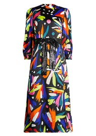 OLIVIA RUBIN Seraphina Silk Dress - Abstract Floral