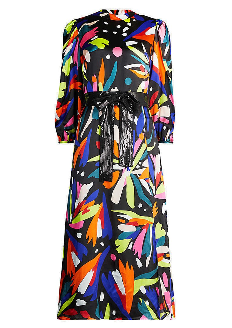 Seraphina Silk Dress - Abstract Floral main image