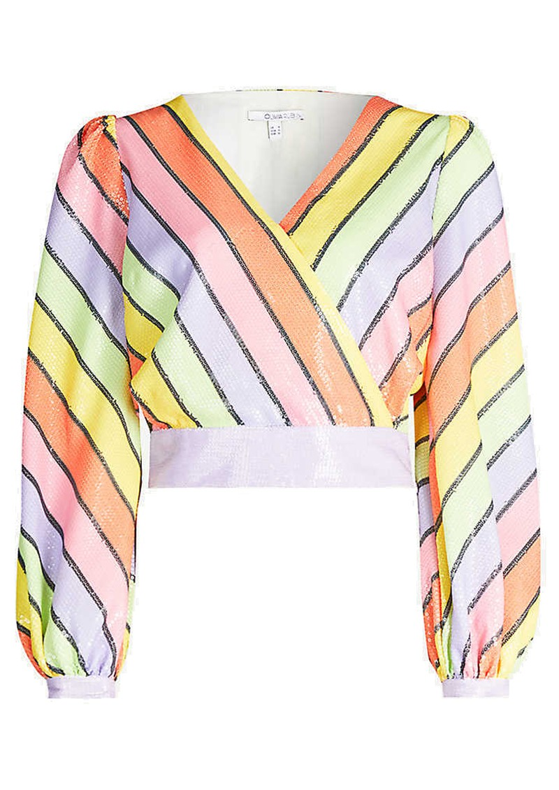 OLIVIA RUBIN Kendall Sequin Top - Resort Stripe main image