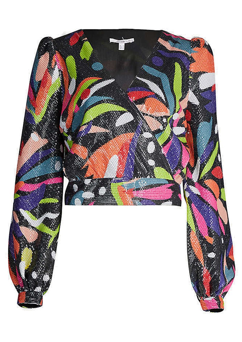 OLIVIA RUBIN Kendall Sequin Top - Abstract Floral main image