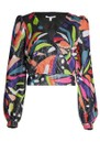 OLIVIA RUBIN Kendall Sequin Top - Abstract Floral
