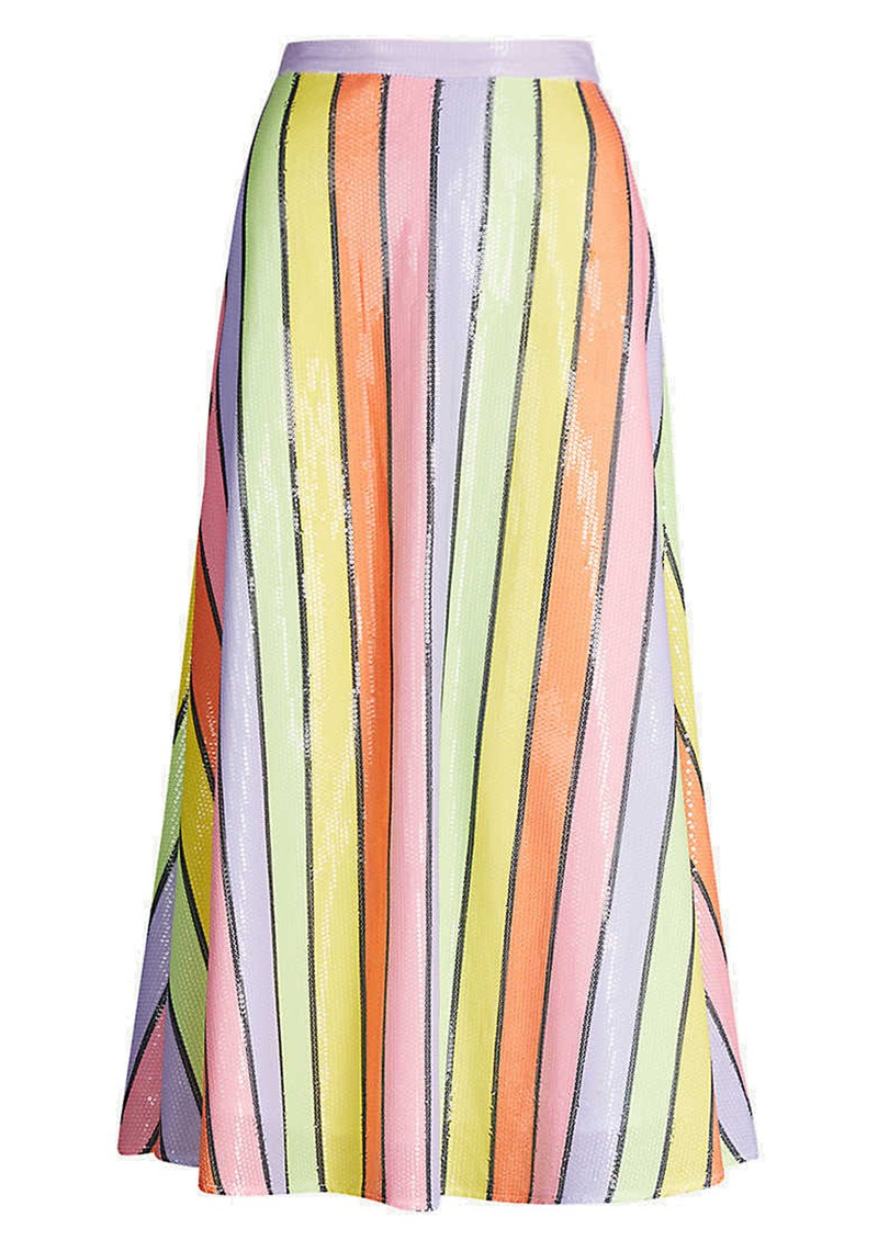 OLIVIA RUBIN Penelope Sequin Skirt - Resort Stripe main image