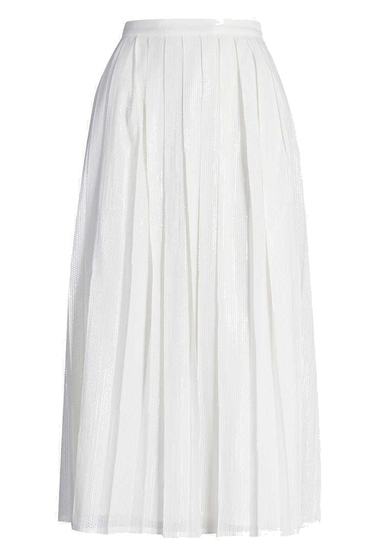 OLIVIA RUBIN Esme Sequin Skirt - White main image