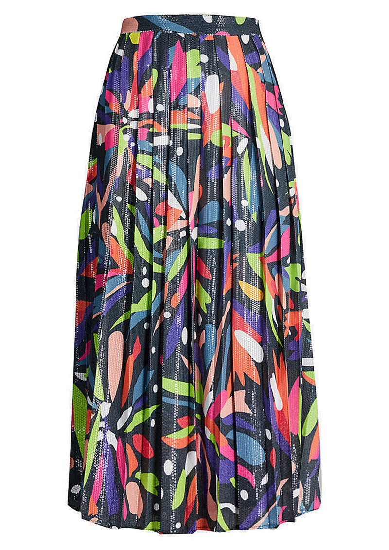 OLIVIA RUBIN Esme Sequin Skirt - Abstract Floral main image