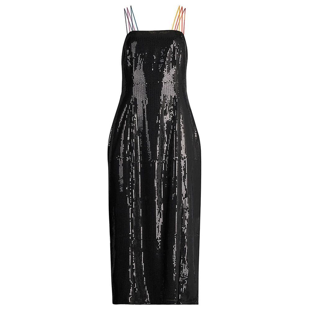 Greta Sequin Dress - Black