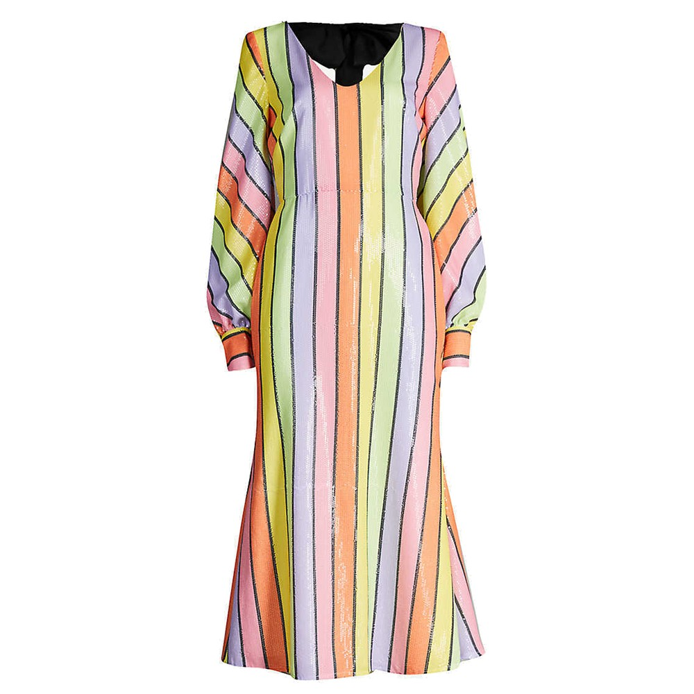 Thora Sequin Dress - Resort Stripe