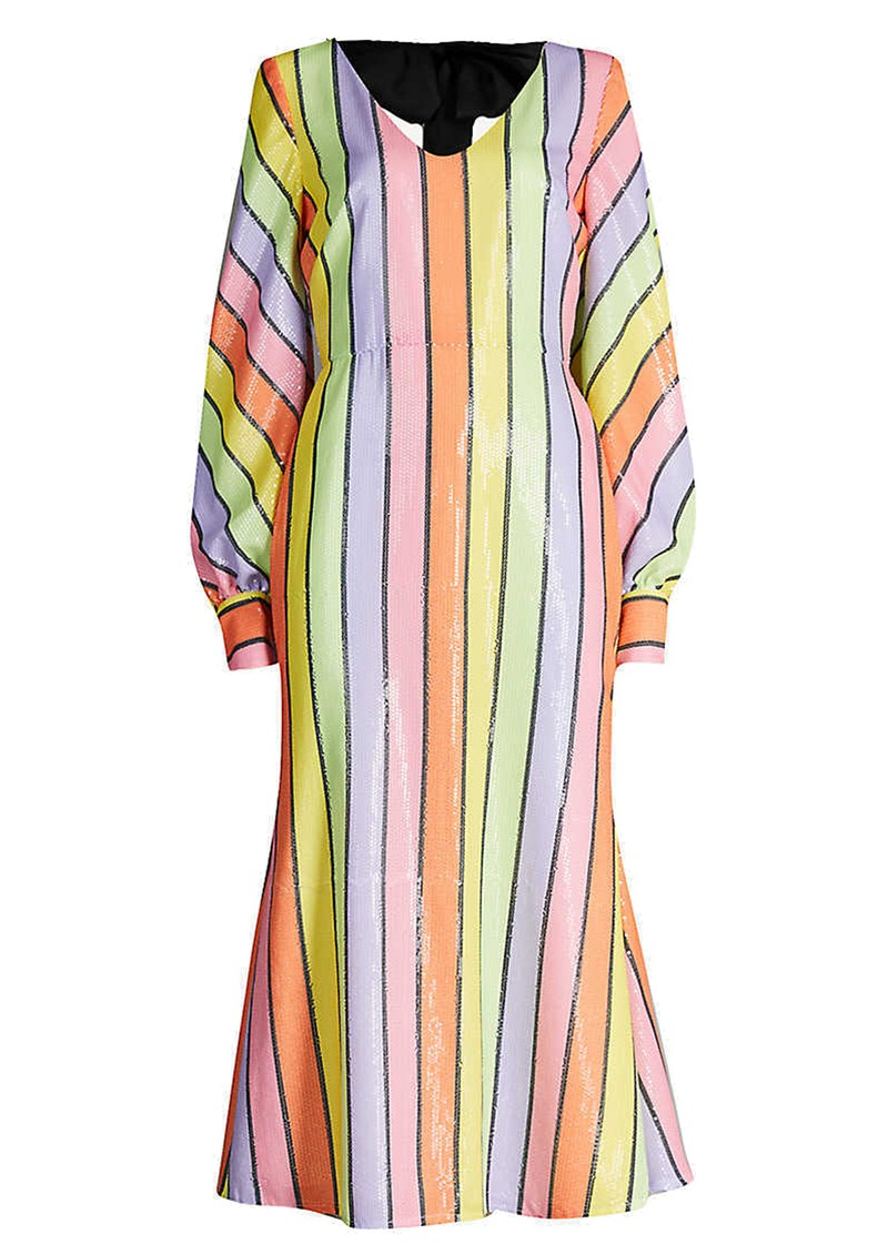 Thora Sequin Dress - Resort Stripe main image
