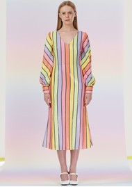 OLIVIA RUBIN Thora Sequin Dress - Resort Stripe