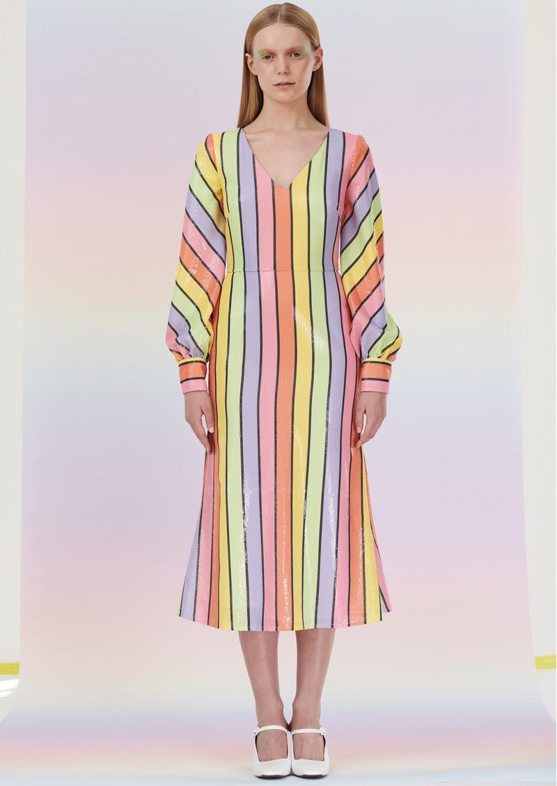 OLIVIA RUBIN Thora Sequin Dress - Resort Stripe main image
