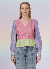 OLIVIA RUBIN Catie Sequin Top - Dash Print