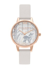Olivia Burton Snow Globe Vegan Friendly Midi Dial - Blush & Rose Gold