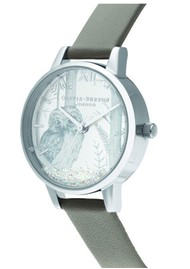 Olivia Burton Snow Globe Vegan Friendly Midi Dial - London Grey & Silver