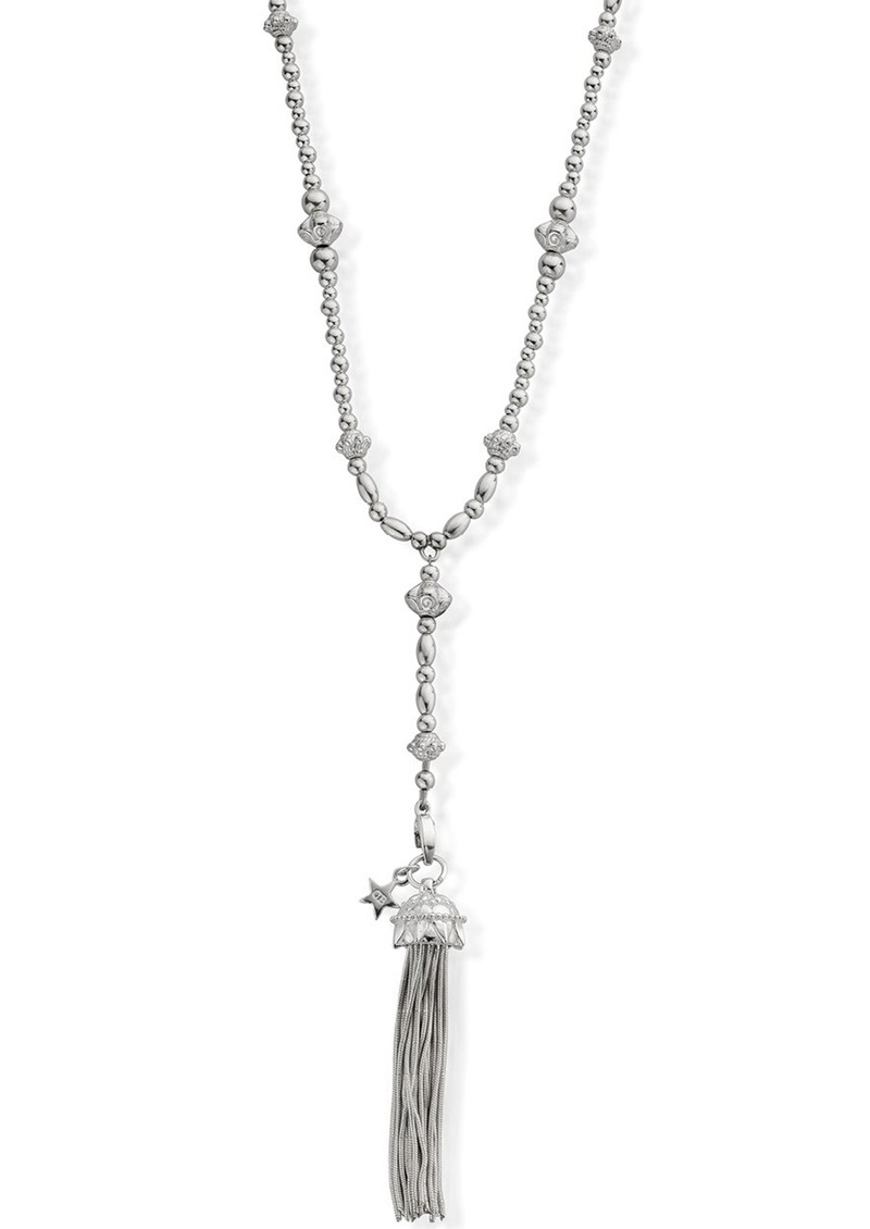 ChloBo Fearless Necklace With Mandela Tassel Pendant - Silver main image