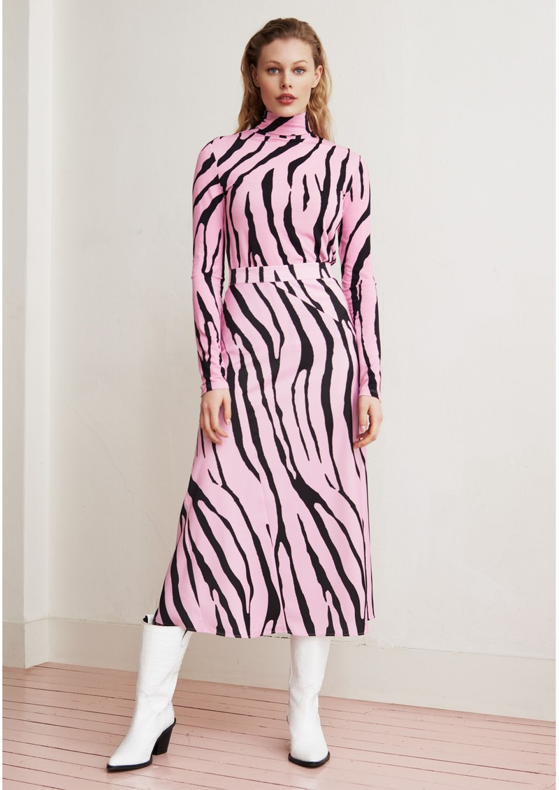 FABIENNE CHAPOT Claire Skirt - Pink Zebra main image