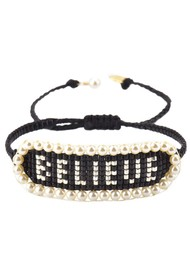 MISHKY Believe Beaded Bracelet - Black