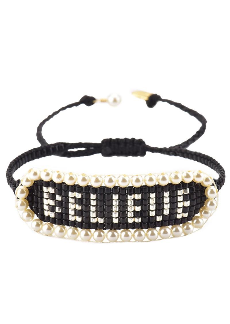 MISHKY Believe Beaded Bracelet - Black main image