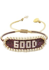 MISHKY Good Beaded Bracelet - Red Wine