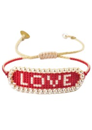 MISHKY Love Beaded Bracelet - Red