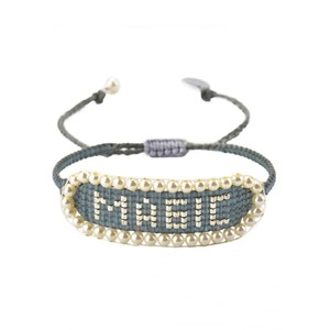 Magic Beaded Bracelet - Grey